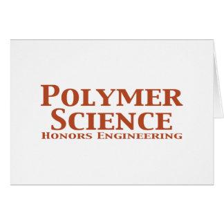 La ciencia del polímero honra los regalos de la in tarjeta de felicitación