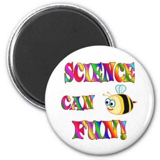 La ciencia es diversión imán de frigorífico