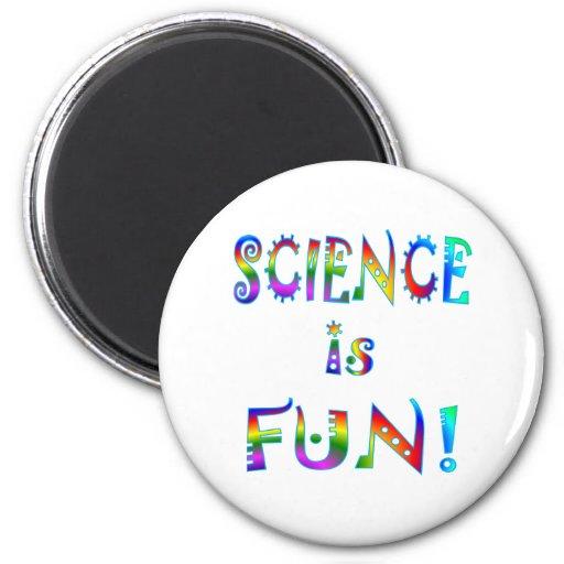 La ciencia es diversión imán redondo 5 cm