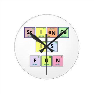 La ciencia es diversión reloj