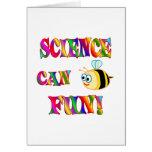 La ciencia es diversión tarjeta