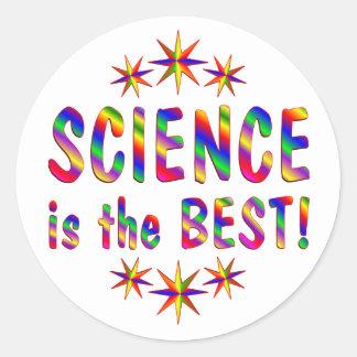 La ciencia es el mejor etiqueta redonda