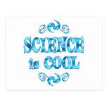 La ciencia es fresca postal