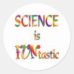 La ciencia es Funtastic Pegatina