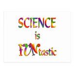 La ciencia es Funtastic Tarjeta Postal