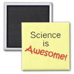 La ciencia es impresionante imán de frigorifico