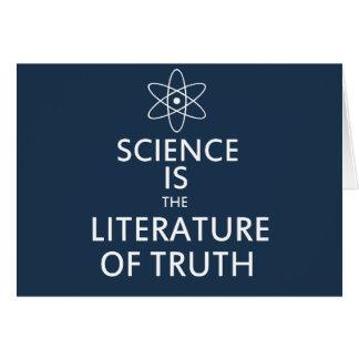 La ciencia es la literatura de la verdad felicitación