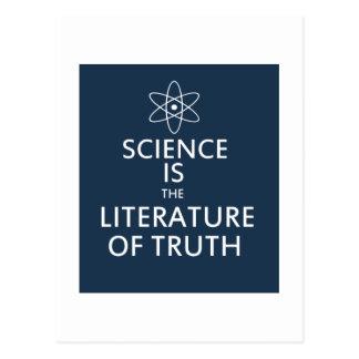 La ciencia es la literatura de la verdad postales