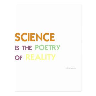 La ciencia es la poesía de la realidad postal