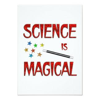 """La ciencia es mágica invitación 5"""" x 7"""""""