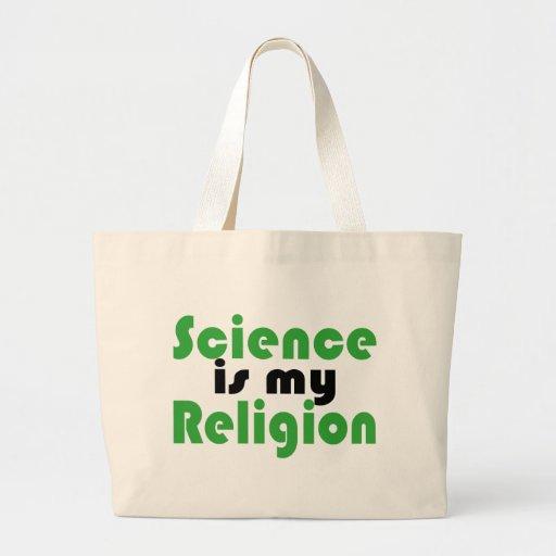 La ciencia es mi religión bolsa tela grande