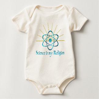 La ciencia es mi religión traje de bebé