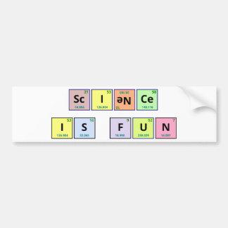 La ciencia es pegatina para el parachoques de la d pegatina de parachoque