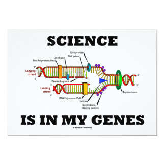 """La ciencia está en mis genes (la réplica de la invitación 5"""" x 7"""""""