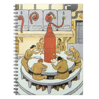 La ciencia ficción del vintage, científicos del spiral notebook