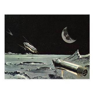 La ciencia ficción del vintage Rocket envía el Postal