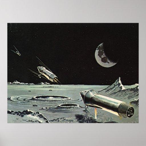 La ciencia ficción del vintage, Rocket envía los Póster