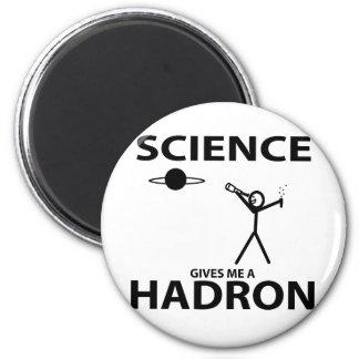 La ciencia me da una figura engranaje del palillo  imán redondo 5 cm