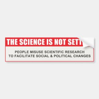 La ciencia no se establece etiqueta de parachoque
