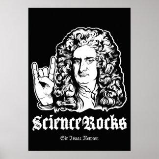 La ciencia oscila el poster de sir Isaac Newton Póster