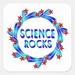 La ciencia oscila la diversión calcomanía cuadradase