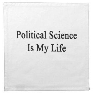 La ciencia política es mi vida servilleta