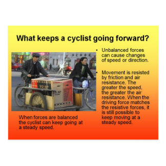 ¿La ciencia, qué guarda una bicicleta el ir adelan Tarjeta Postal