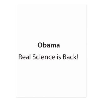 ¡La ciencia real está detrás! Postal