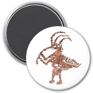 La Cieneguilla Flute Player Petroglyph 3 Inch Round Magnet