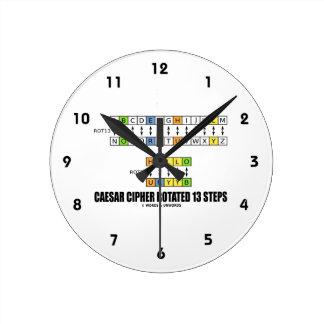 La cifra de César giró 13 pasos la substitución Reloj
