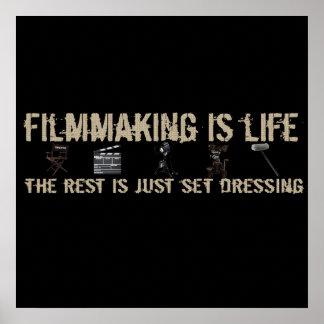 La cinematografía es vida poster