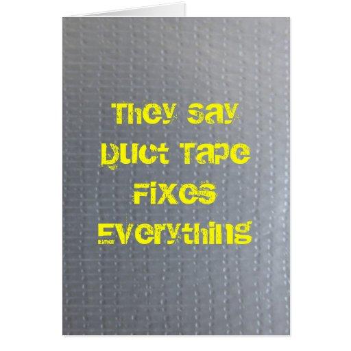 La cinta aislante consigue bien pronto tarjeta de felicitación