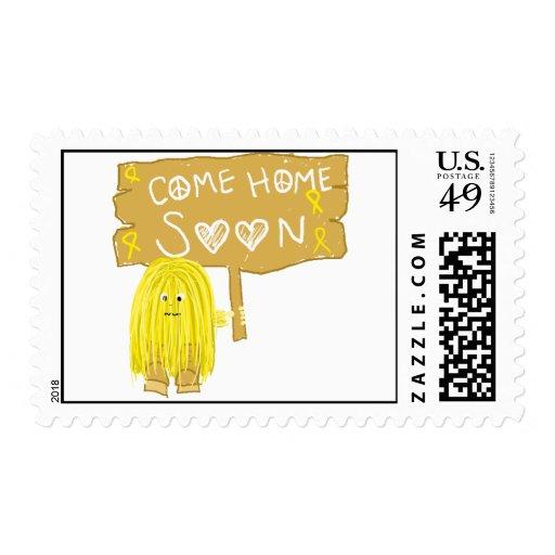 La cinta amarilla viene a casa pronto sellos