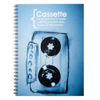 La cinta de casete libro de apuntes con espiral