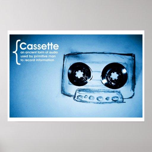 La cinta de casete póster