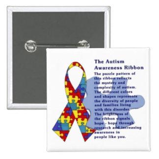 """""""La cinta de la conciencia del autismo """" Pins"""