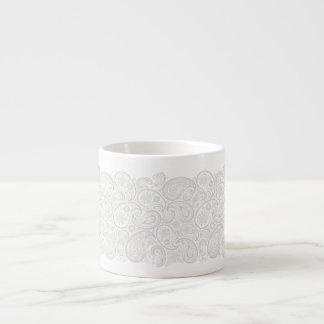 La cinta de Pailey agita en el gris de la perla - Tazitas Espresso