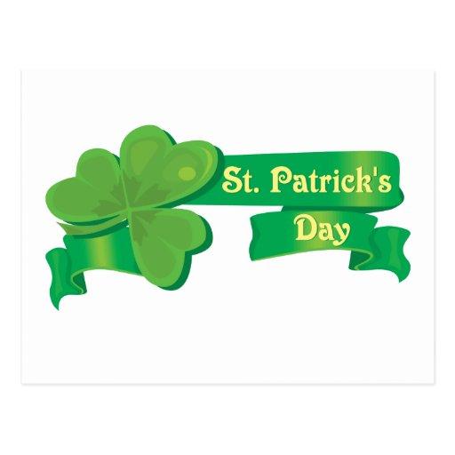 La cinta de St Patrick Postales
