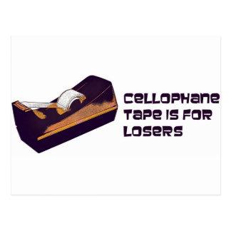 La cinta del celofán está para los perdedores postales
