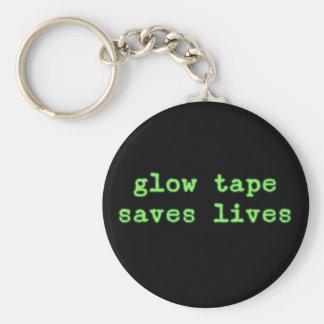 La cinta del resplandor ahorra vidas llavero redondo tipo pin