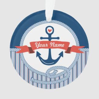 La cinta náutica de la cuerda del ancla raya el