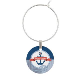 La cinta náutica de la cuerda del ancla raya el identificador de copa