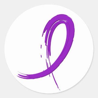 La cinta púrpura A4 del lupus Pegatina Redonda
