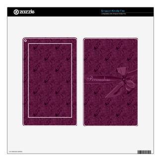 La cinta púrpura del vintage personalizada skin para kindle fire