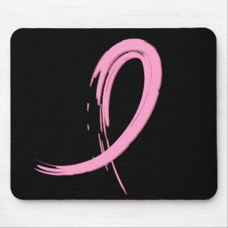 La cinta rosada A4 del cáncer de pecho Tapetes De Ratón