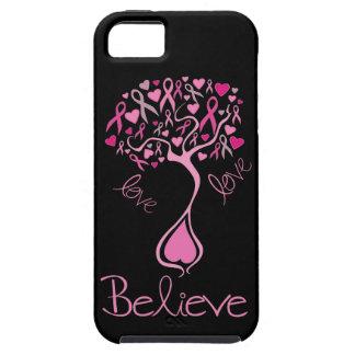 La cinta rosada cree y ama el caso del iphone 5 iPhone 5 protectores