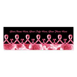 La cinta rosada le agradece tarjetas de visita mini