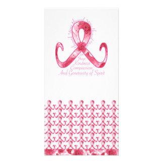 La cinta rosada le agradece tarjetas personales