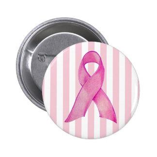 La cinta rosada raya el botón pin redondo de 2 pulgadas
