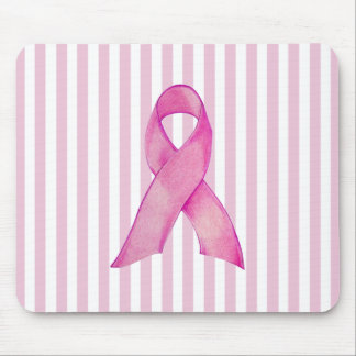 La cinta rosada raya Mousepad Tapetes De Raton